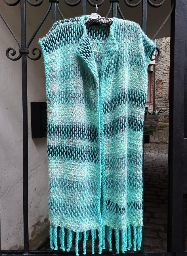 Blue Lilium - Long Vest